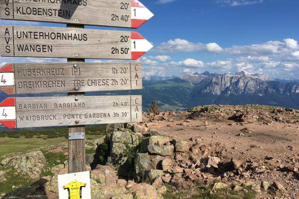 View and sign posts in South Tyrol