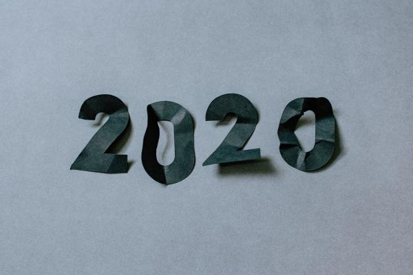 image of 2020 in paper