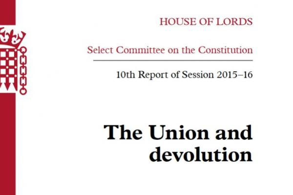 The Union and Devolution