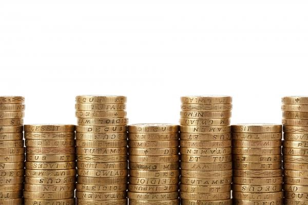 Image of stacked pound coins