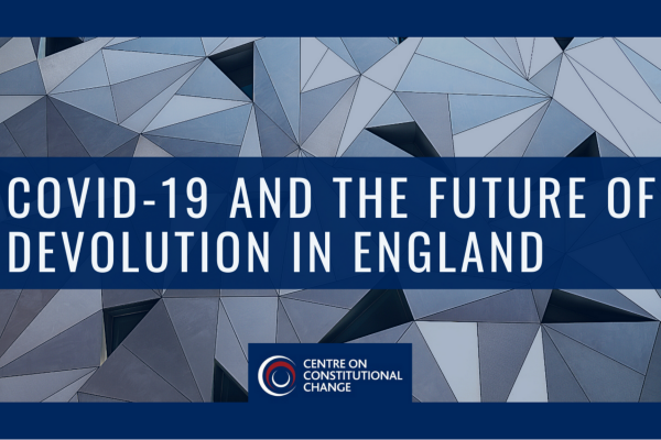 poster for covid-19 and the future of devolution in england
