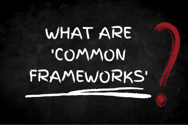 Image of words what are common frameworks