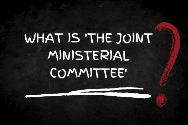 Image with words what is the joint ministerial committee?