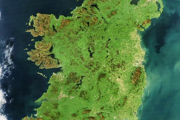 Abstract satellite view Ireland