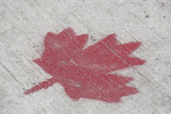 Stenciled Canadian Flag