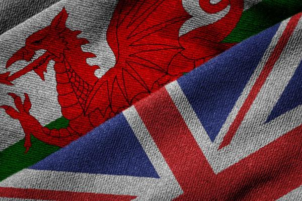 Welsh and UK flags